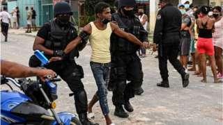 Küba'da protesto