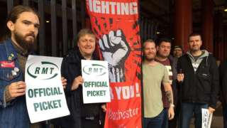Picket line Piccadilly Station