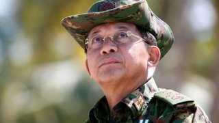 সামরিক বাহিনী প্রধান জেনারেল মিন অং লাইং