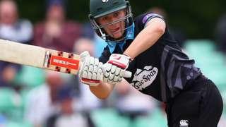 Joe Clarke of Worcestershire plays a shot