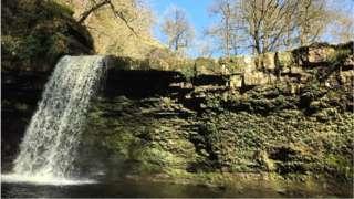 Sgwd Gwladus falls