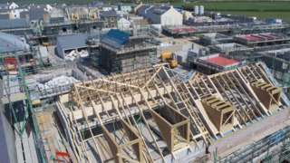 New housing development - stock photo