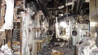 Burnt factory
