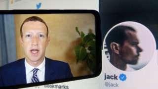 Zuckerberg and Dorsey
