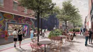 Artists impression of East Street in Bedminster