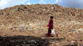 The Deonar dumping ground in suburban Mumbai.