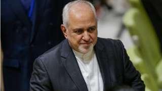جواد ظریف وزیر خارجه ایران اخیرا توسط آمریکا تحریم شد