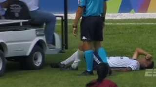 Brazilian youth player's foot is run over