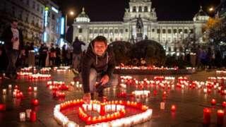Kỷ niệm Cách mạng Nhung ở Prague hôm 17/11/2020