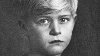 El príncipe Felipe, de niño.