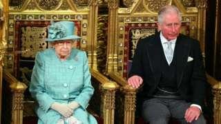 2020年12月19日女王和菲利普親王在議會上院。女王宣佈新一屆議會開幕。