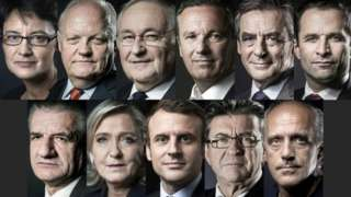 Eleven French presidential candidates