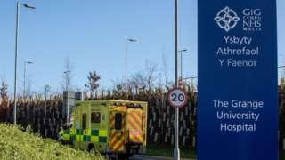 Grange Hospital near Cwmbran
