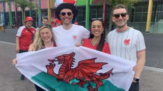 Welsh fans in Amsterdam