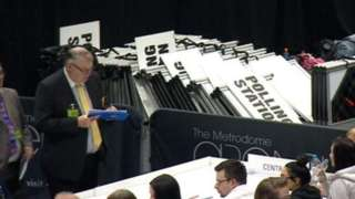 Election count in Barnsley