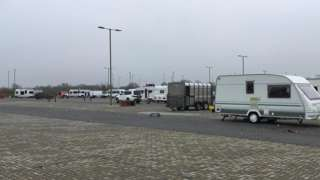 Caravans at Bicester park and ride