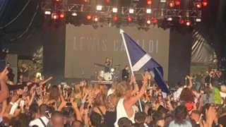 Lewis Capaldi performing at Jersey Weekender Festival