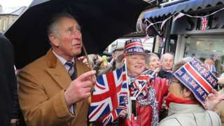 The Prince of Wales meets local residents, business owners and participants in the Clitheroe Food Festival