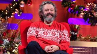 Michael Sheen during the filming for the Graham Norton Show at BBC Studioworks 6 Television Centre, Wood Lane, London, to be aired on BBC One on Friday evening. PA Photo. Picture date: Thursday December 17, 2020