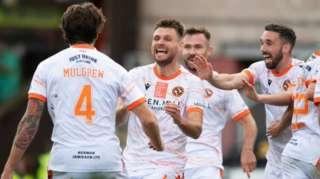 Dundee United celebrate