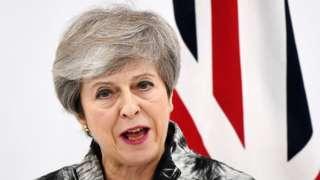 Theresa May at G20 summit in Osaka