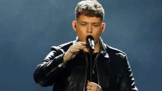 Michael Rice performs at the Eurovision Song Contest