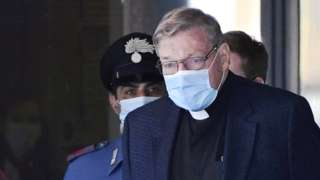 Cardinal Pell arrives in Rome, 30 Sept