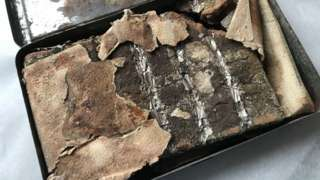 The 121-year-old chocolate bar discovered at Oxburgh Hall