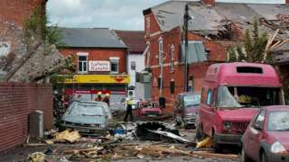 Damage to homes, businesses and cars