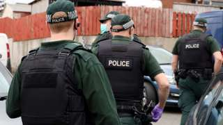 PSNI at drugs raid
