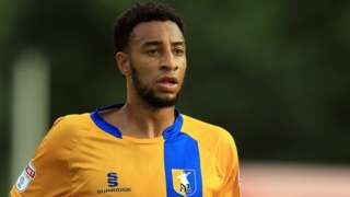 Rhys Bennett in action for Mansfield