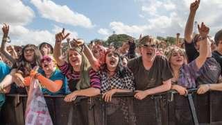 Festival-goers in Leeds, 2019