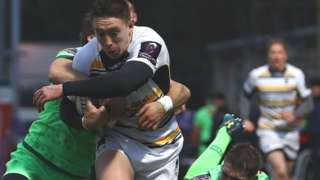Wales international Josh Adams' try was his third of the season for Worcester - and his first in the European Challenge Cup