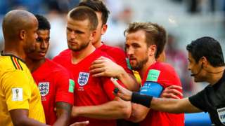 Eric Dier and Harry Kane line up for one of their trademark corner routines