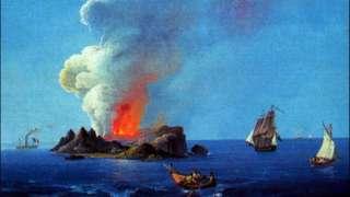 Pintura retrata formação da ilha