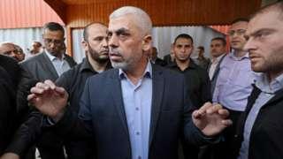 Açıklamayı Hamas'ın Gazze lideri Yahya Sinwar yaptı.