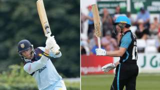 Durham's Graham Clark (140) and Worcestershire's Jack Haynes (153) hit the highest of the day's seven centuries