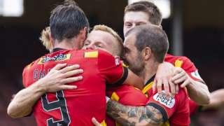 Tiffoney celebrates late Partick goal