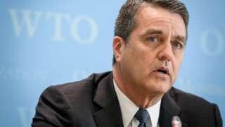 Roberto Azevedo fala em evento da OMC
