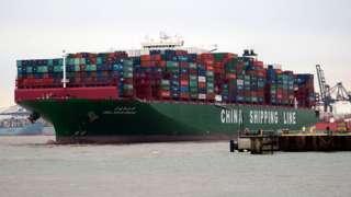 Çin kargo gemisi