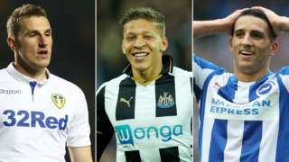 Chris Wood, Dwight Gayle and Anthony Knockaert