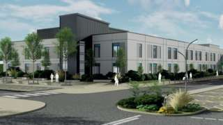 An artist's impression of the hospital redevelopment