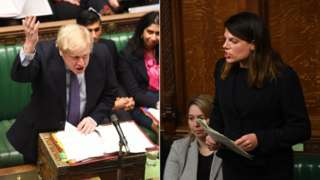 Boris Johnson and Caroline Nokes