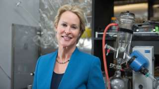 Frances Arnold in her laboratory
