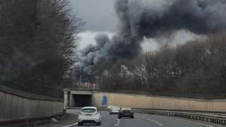 Plumes of smoke over M60