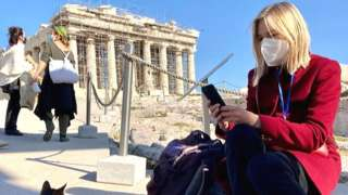 Bethany Bell on the Acropolis in Athens