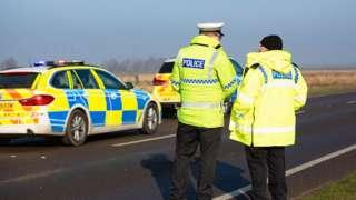 A16 crash scene