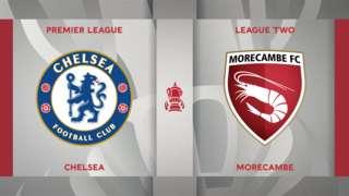 Chelsea v Morecambe badge graphic