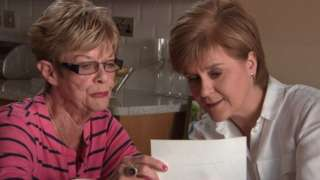 Kay Ullrich and Nicola Sturgeon