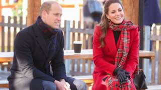 William and Kate talk to people in Cardiff